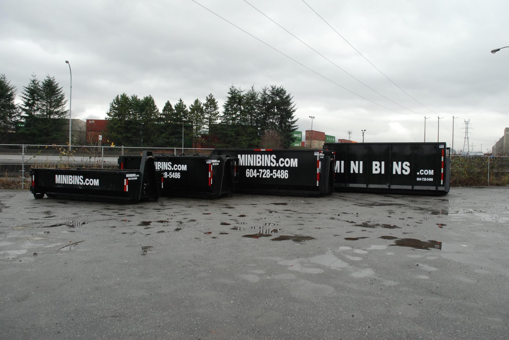 Minibins Bin rental sizes