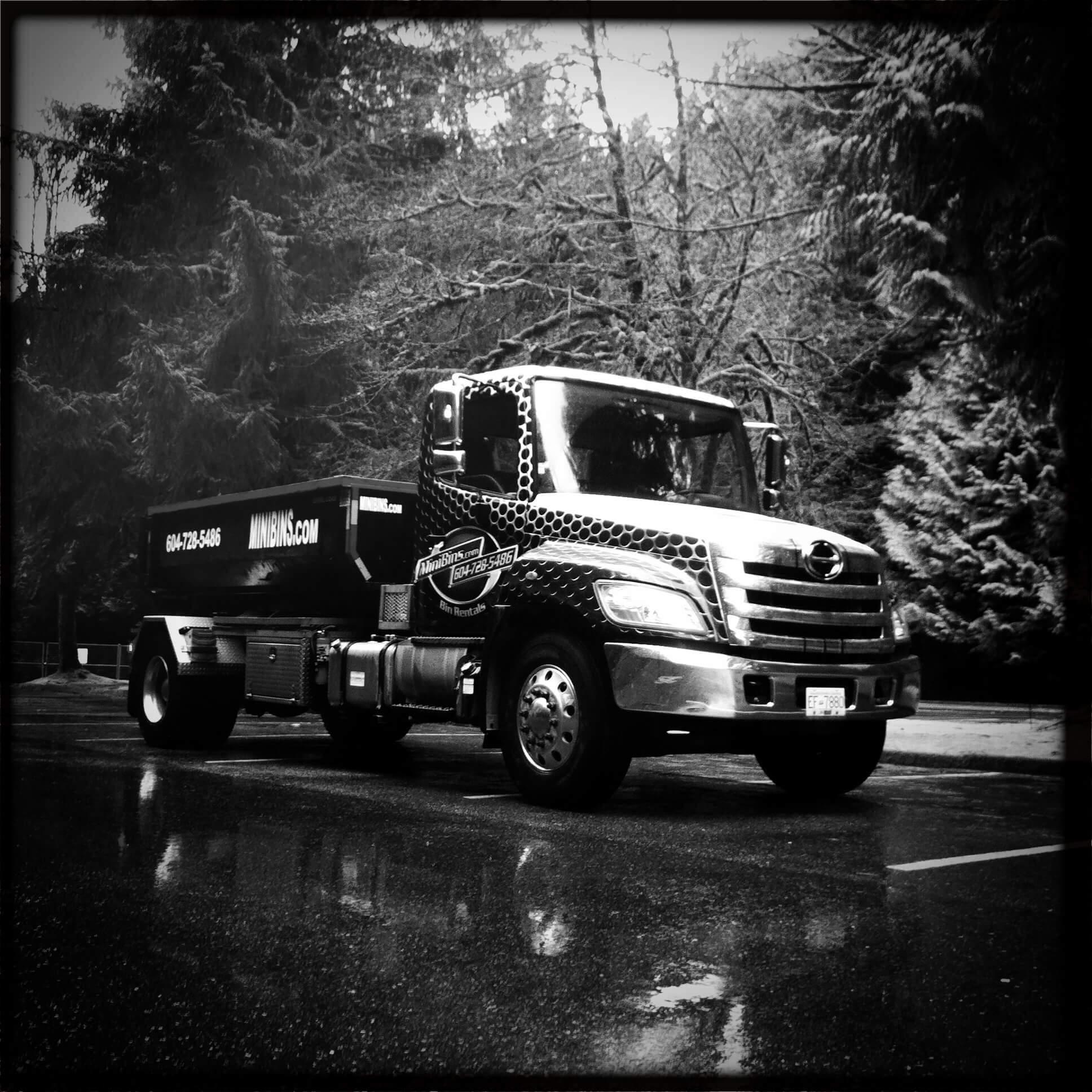 Minibins Truck Black and White