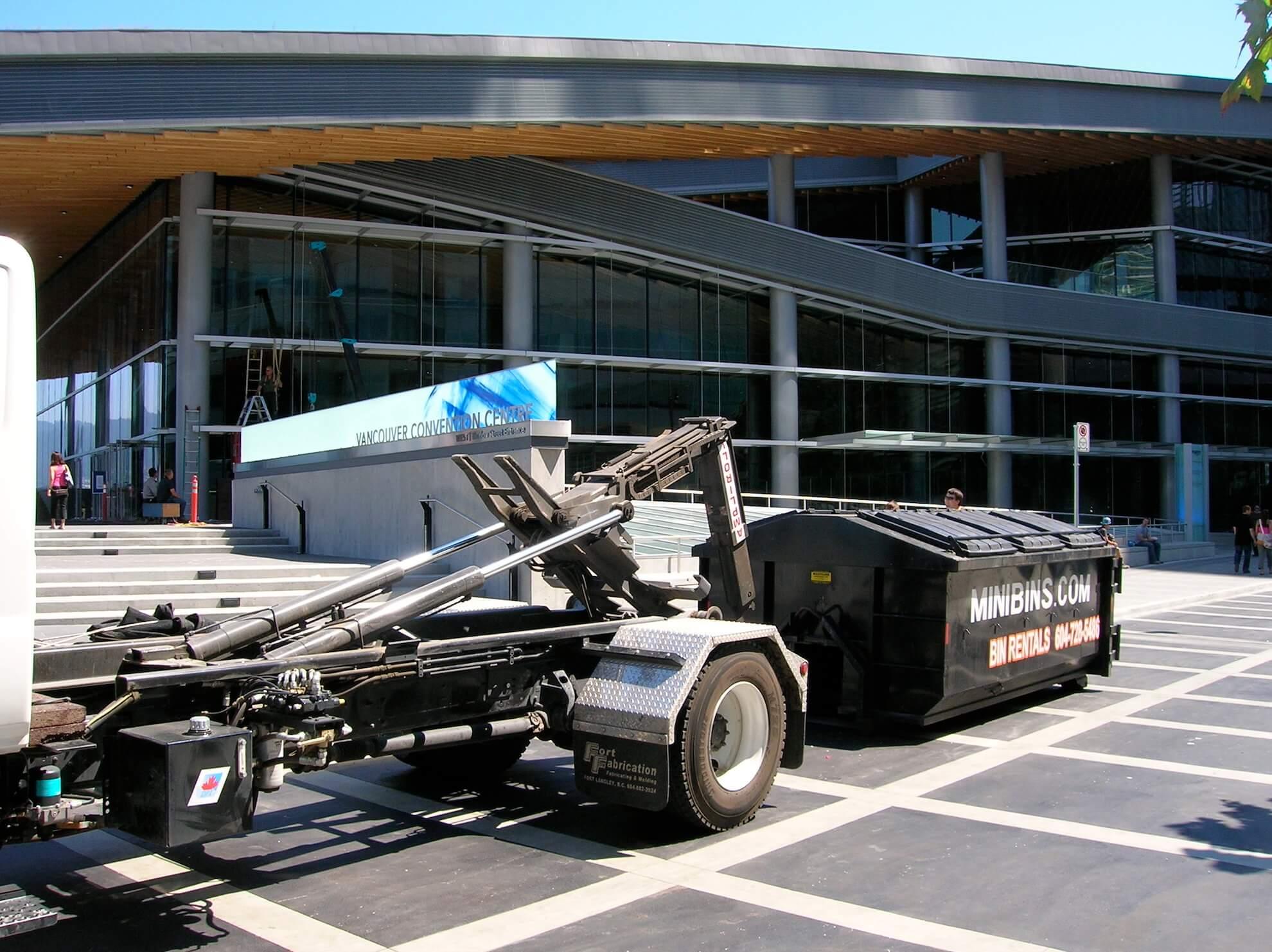 Minibins Truck commercial dumpster rental Vancouver