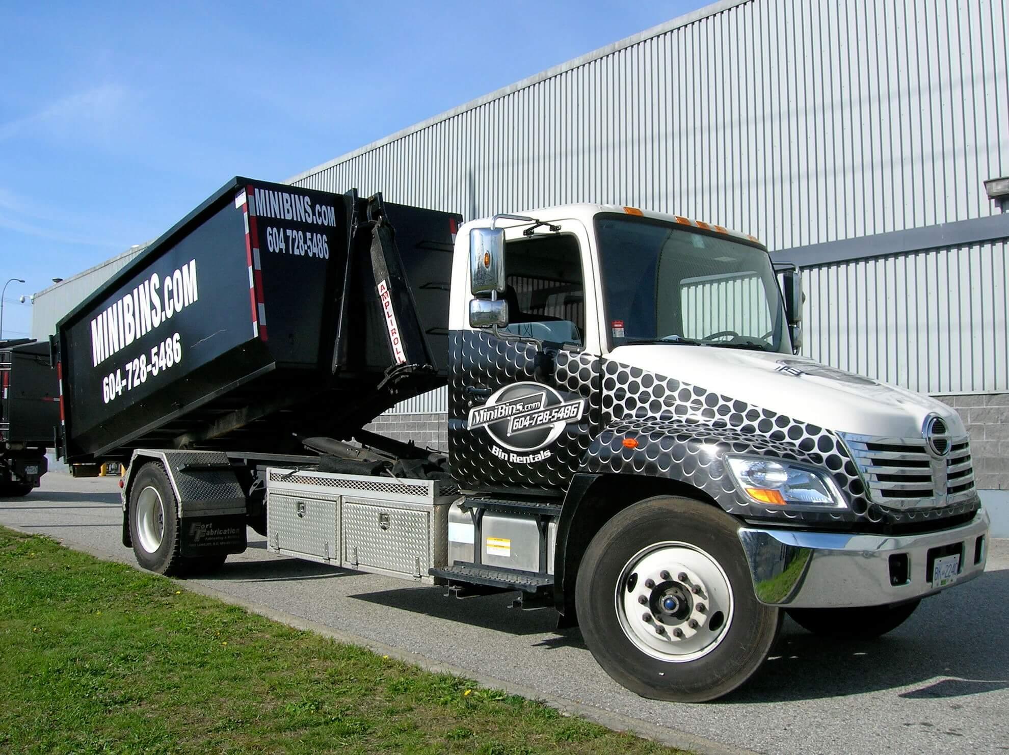 dumpster rental Minibins Truck