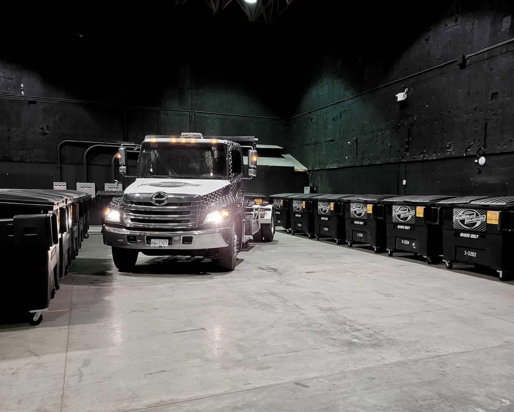 Minibins dumpster waste rental vancouver
